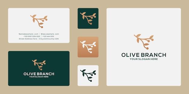 Création de logo de branche d'olivier pour votre entreprise