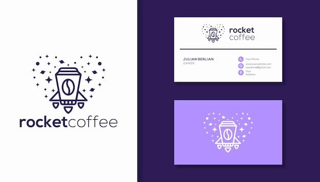 Création de logo de café et de fusée