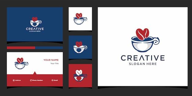 Création de logo de café avec modèle de carte de visite