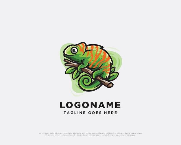 Création de logo de caméléon nature