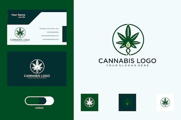 Création de logo de cannabis et carte de visite