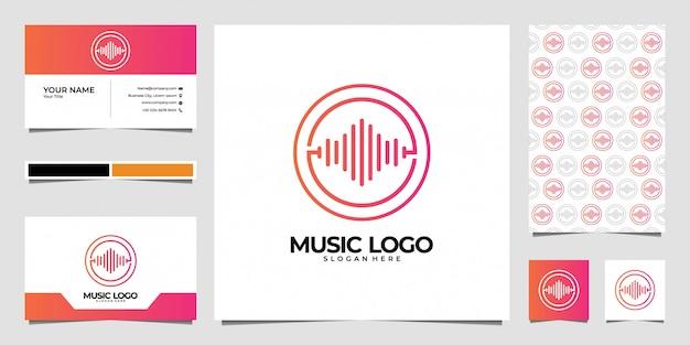 Création de logo et carte de visite pour égaliseur de musique moderne