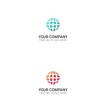 Création de logo de cercle créatif - vecteur