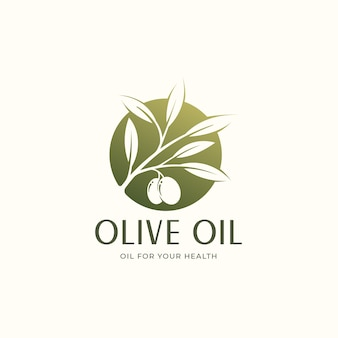 Création de logo de cercle d'huile d'olive verte