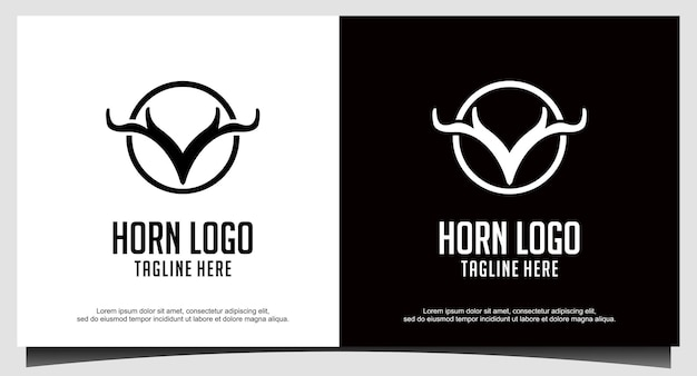 Création de logo de cerf en corne
