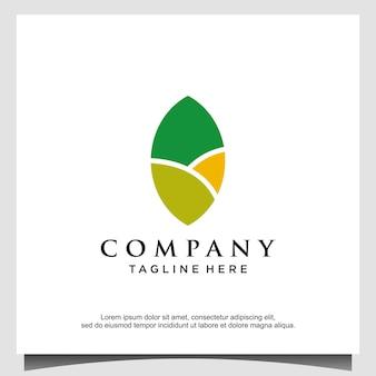 Création de logo de champ de jardin de ferme