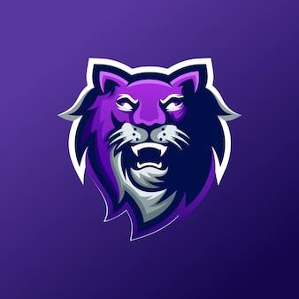 Création de logo de chat e-sport