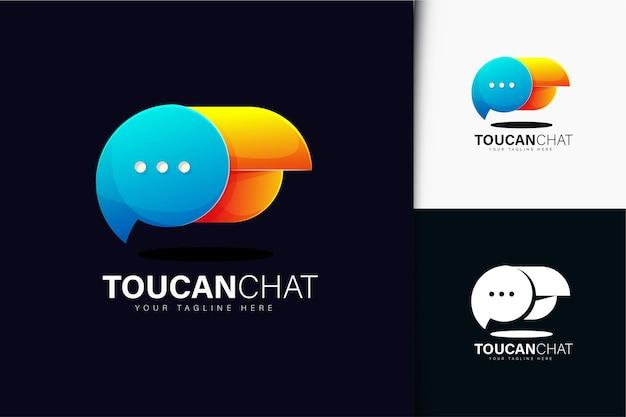 Création de logo de chat toucan avec dégradé