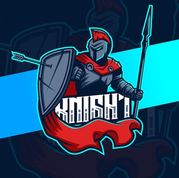 Création de logo chevalier mascotte esport