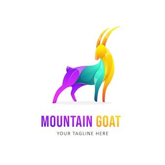 Création de logo de chèvre coloré