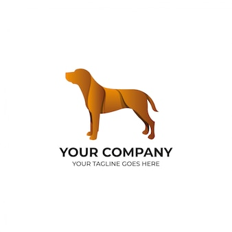 Création de logo de chien brun