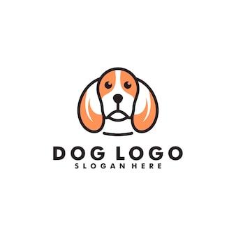 Création de logo de chien, logotype de tête d'animal