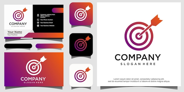 Création de logo cible de mise au point