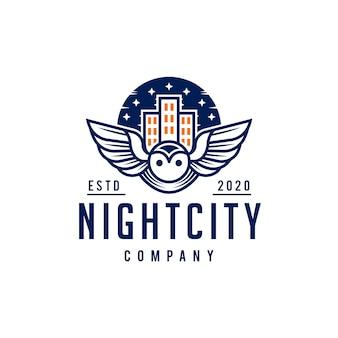 Création de logo ciel oiseau ville bleu ciel