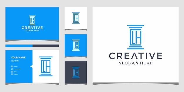 Création de logo clh law avec modèle de carte de bussines