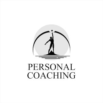 Création de logo de coaching de vie de croissance de la personnalité