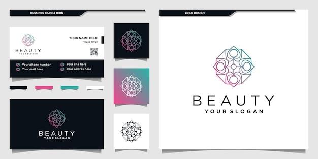 Création de logo coeur abstrait avec concept de couleurs dégradées unique, pour salon de beauté vecteur premium