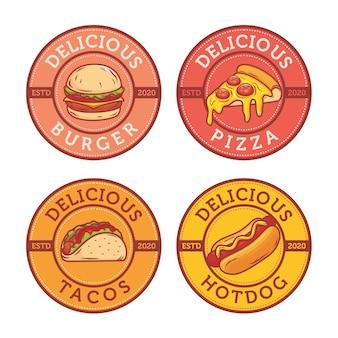 Création de logo de collation de restauration rapide