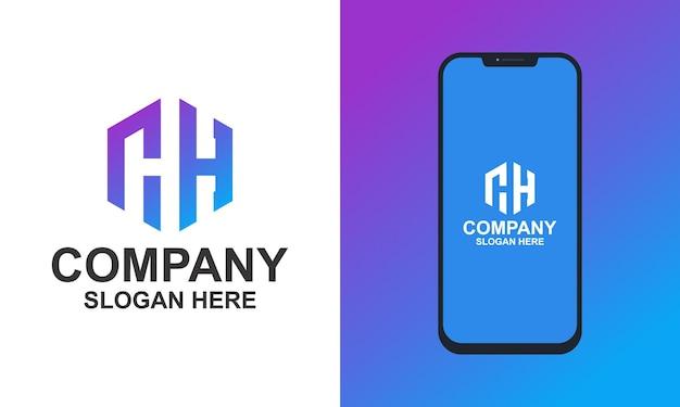 Création de logo de collection monogramme hexagone vecteur premium