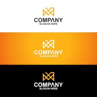 Création de logo de collection monogramme vecteur premium premium