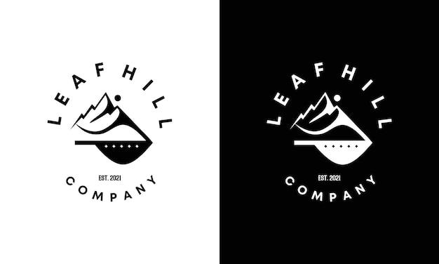 Création de logo de colline vintage