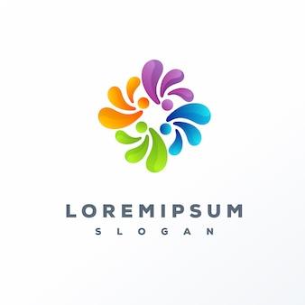 Création de logo coloré abstrait prêt à l'emploi
