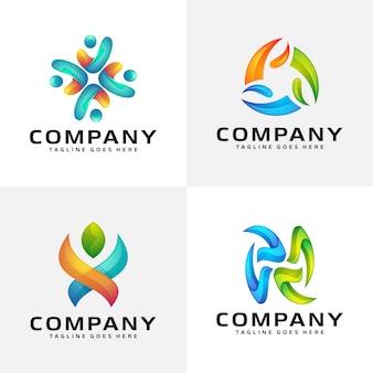 Création de logo coloré abstrait