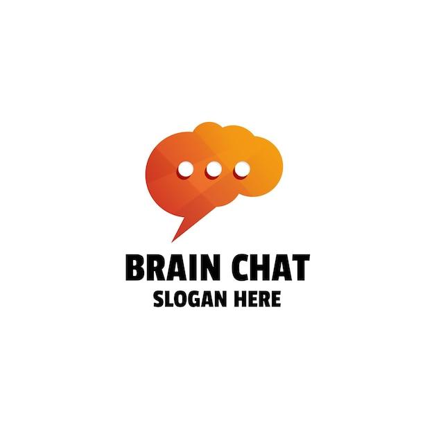 Création de logo coloré de dégradé de chat de cerveau