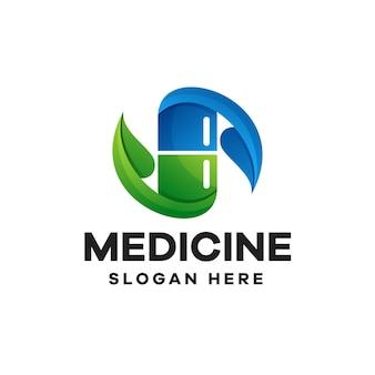 Création de logo coloré dégradé de médecine
