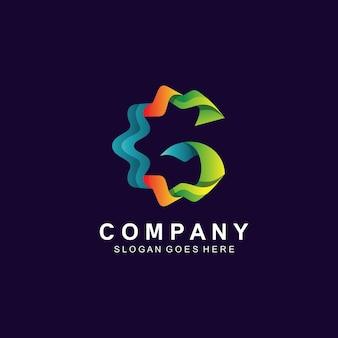 Création de logo coloré lettre g