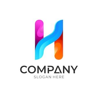 Création de logo coloré lettre h