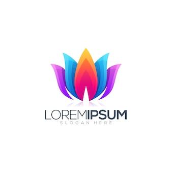 Création de logo coloré lotus