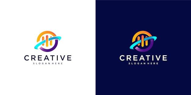 Création de logo coloré de planète musique