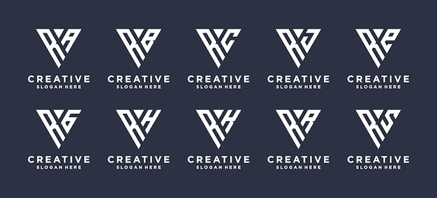 Création de logo de combinaison monogramme lettre r.