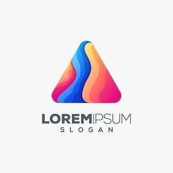 Création de logo concept triangle