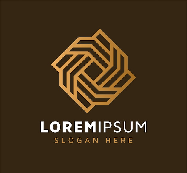 Création de logo de connexion de ligne abstraite monoline élégante