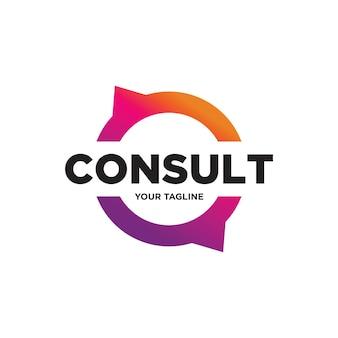 Création de logo de consultation, logo de consultation, icône de la technologie