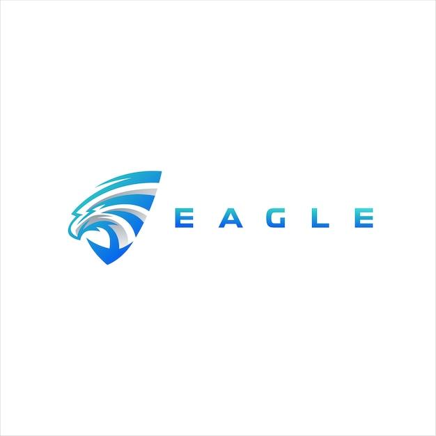 Création de logo de couleur dégradé eagle