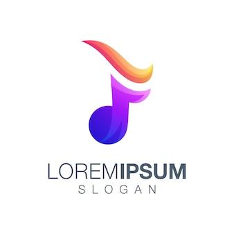 Création de logo couleur dégradé lettre f ton
