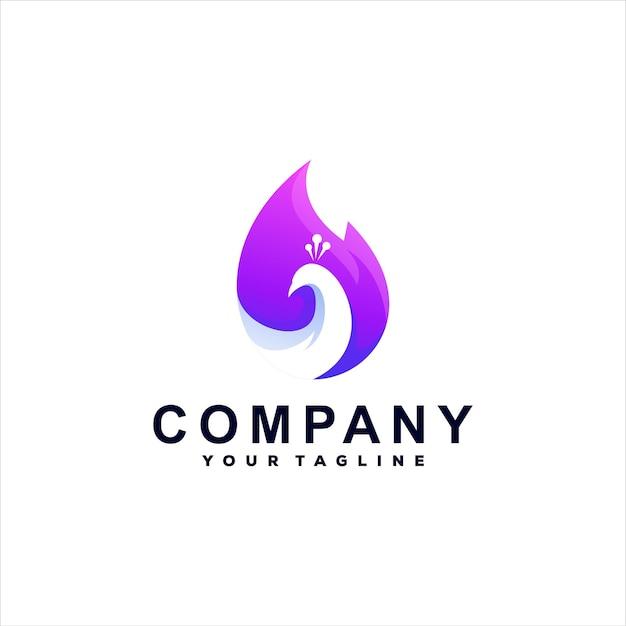 Création de logo de couleur dégradé paon