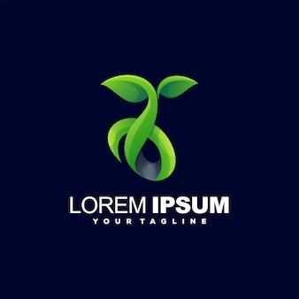 Création de logo de couleur verte végétale