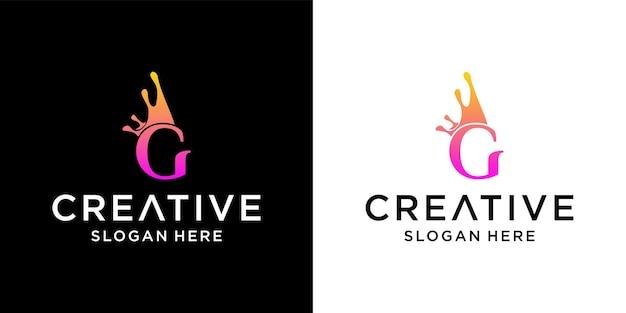 Création de logo de couronne de lettre g