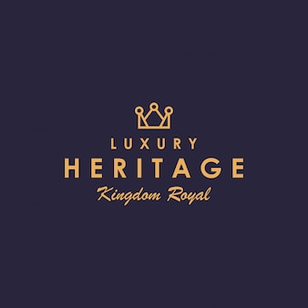 Création de logo de couronne de luxe créatif