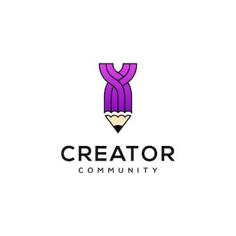 Création de logo crayon moderne