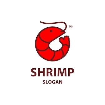 Création de logo de crevettes