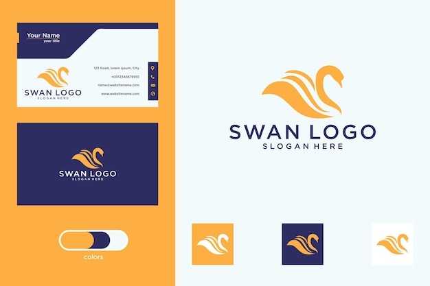 Création de logo de cygne et carte de visite