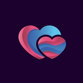 Création de logo dégradé d'amour