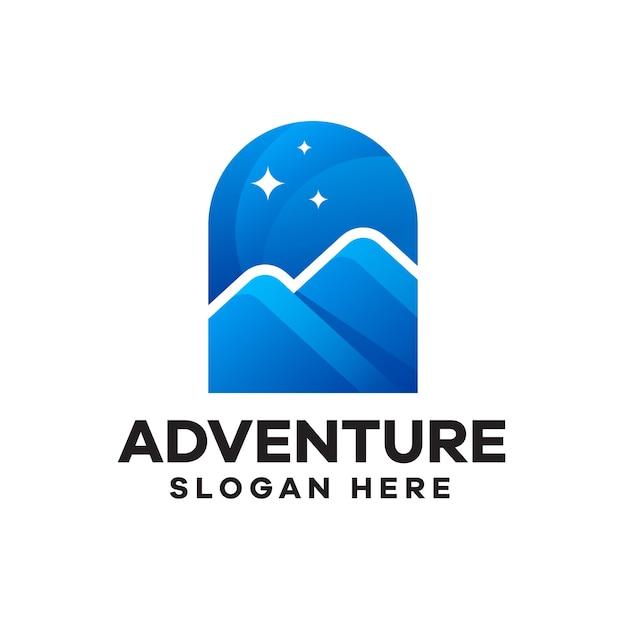 Création de logo de dégradé d'aventure