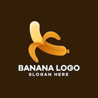 Création de logo de dégradé de banane