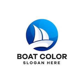 Création de logo de dégradé de bateau